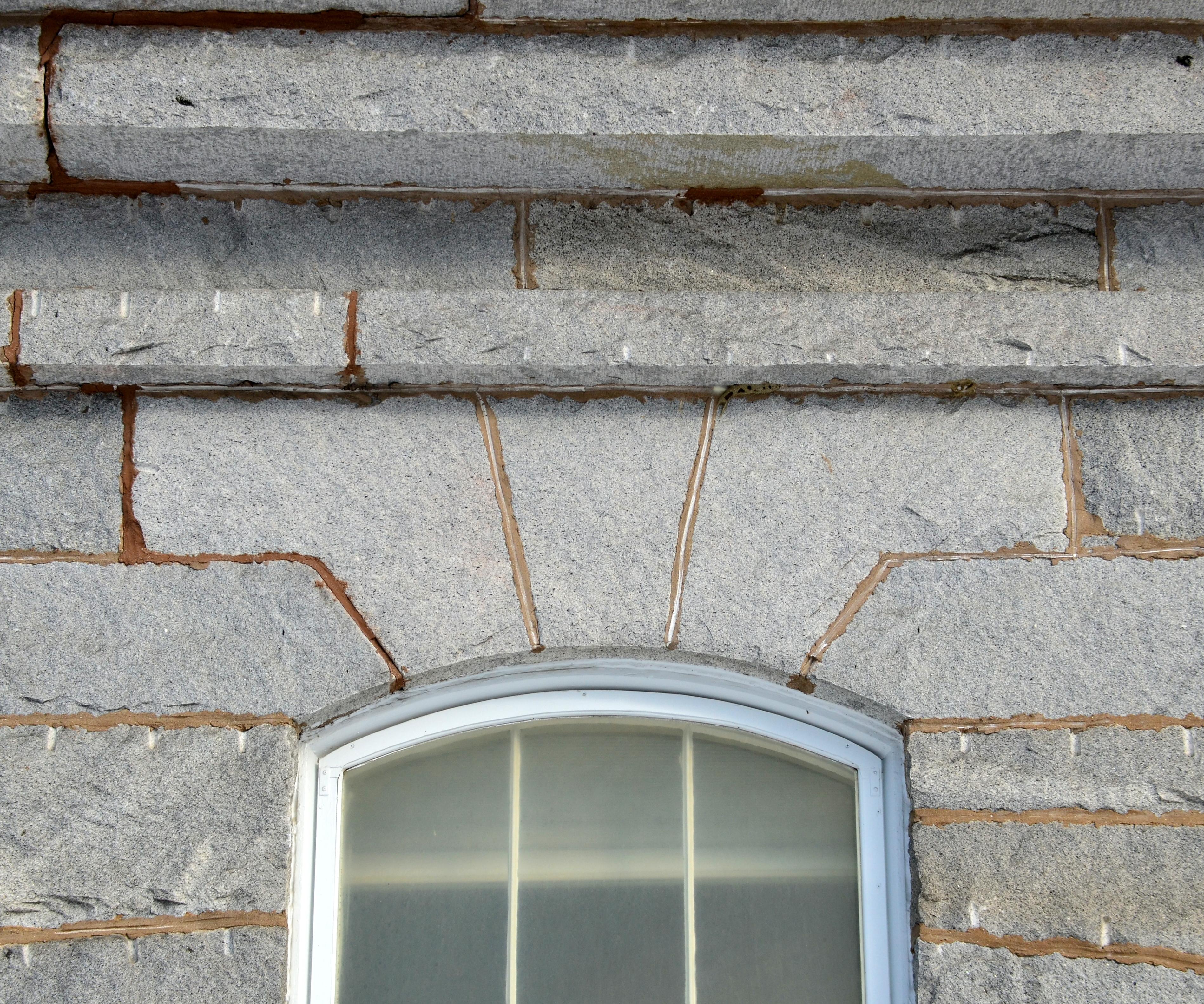 Historic masonry finishes archipedia new england - Exterior concrete block finishes ...